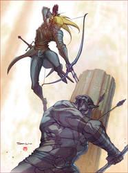 Legolas vs Azog by CoranKizerStone