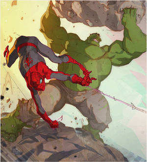 Web Head and the Green Goliath