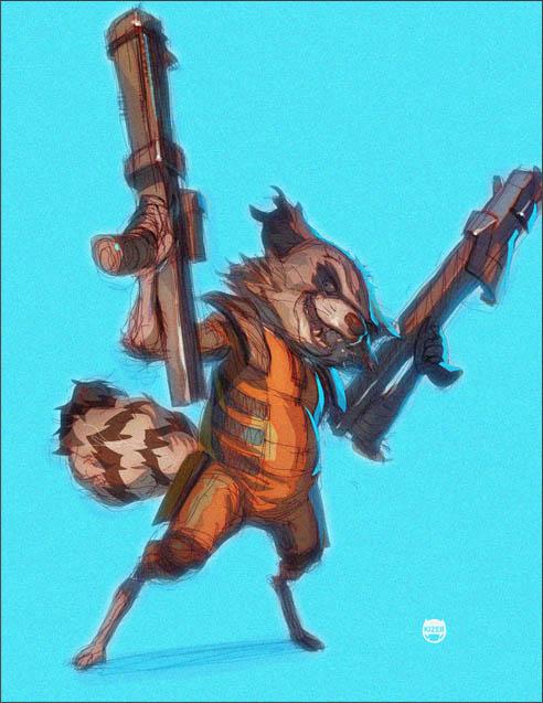 Star Lord And Rocket Raccoon By Timothygreenii On Deviantart: Rocket Racoon By CoranKizerStone On DeviantArt