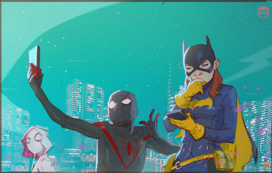 A little Downtime with Batgirl, Miles and Gwen