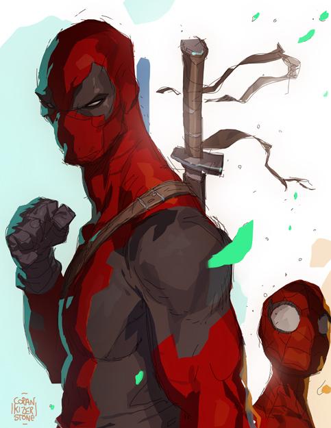 Deadpool Teach...Spidey...Learn by CoranKizerStone