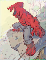 Red Hulk by CoranKizerStone