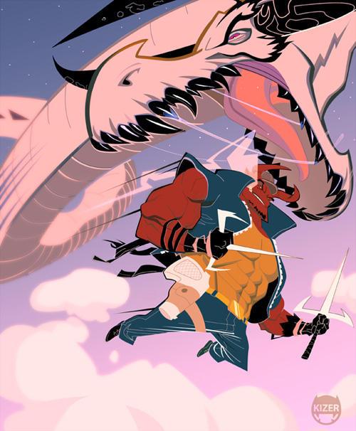 Kizer Bravado and the Beast by CoranKizerStone