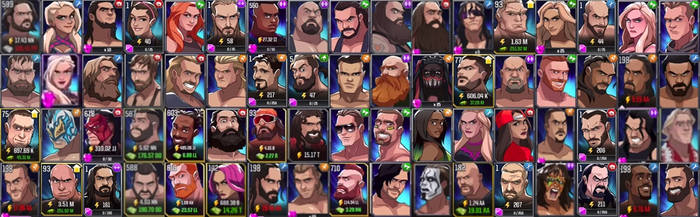 WWE Tap Mania Roster by yoink17