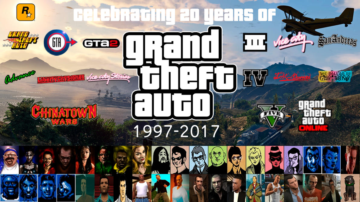 20 Years Of Grand Theft Auto Wallpaper By Yoink17