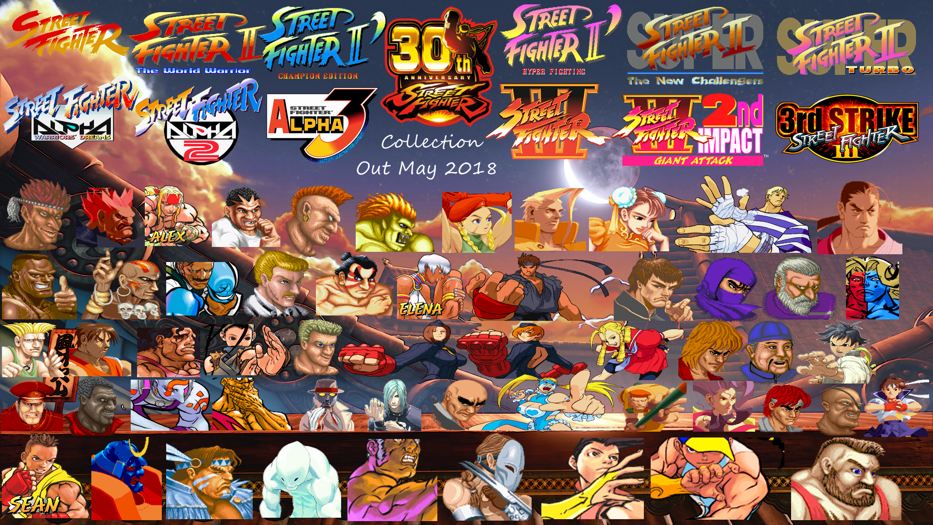 Street Fighter 30th Anniversary Collection Wallpap By Yoink17 On