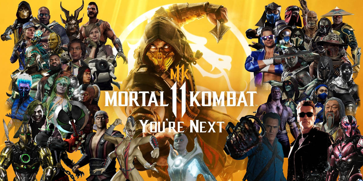 mortal kombat 11 full roster wallpaper by yoink17 dd535m4