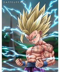 The Angry Super Saiyan 2, Teen Gohan by yoink17