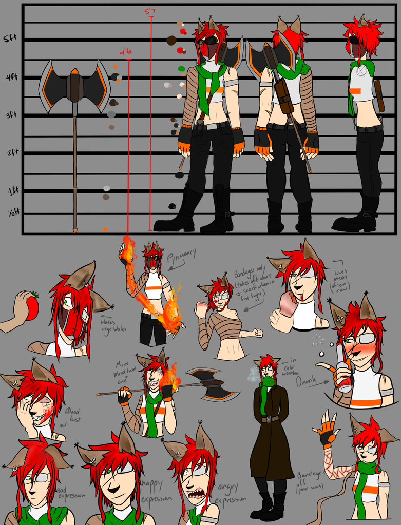 Flynx Character Sheet (Midromeda OC Contest) by DaPyroMancer