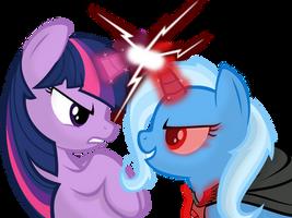Twilight vs Trixie by Godoffury