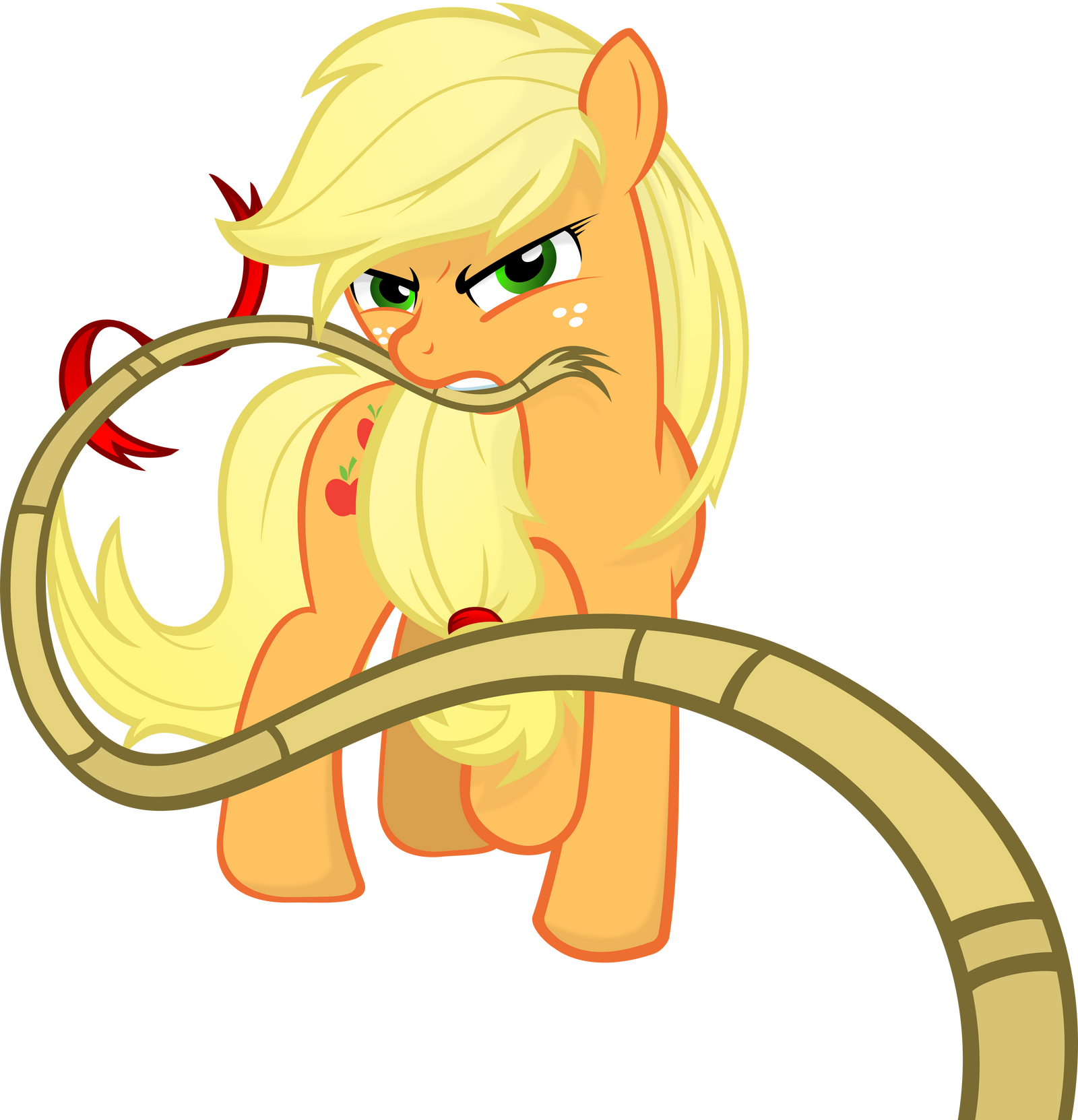 Applejack - Rope by Godoffury