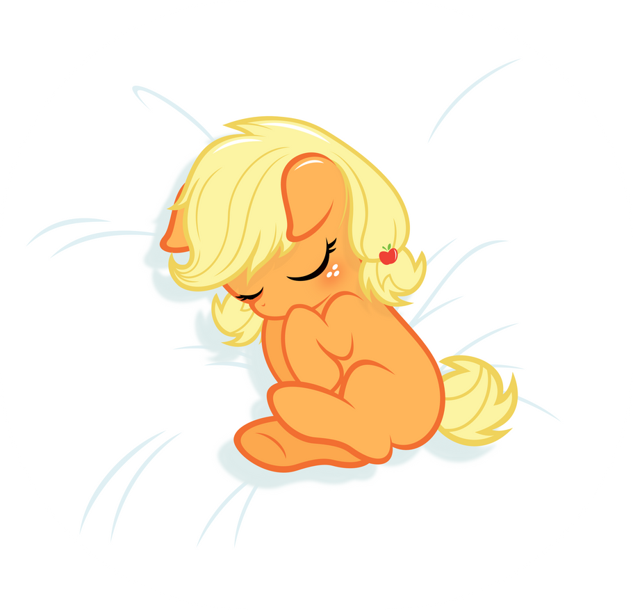 Baby Applejack -sleeping- by Godoffury