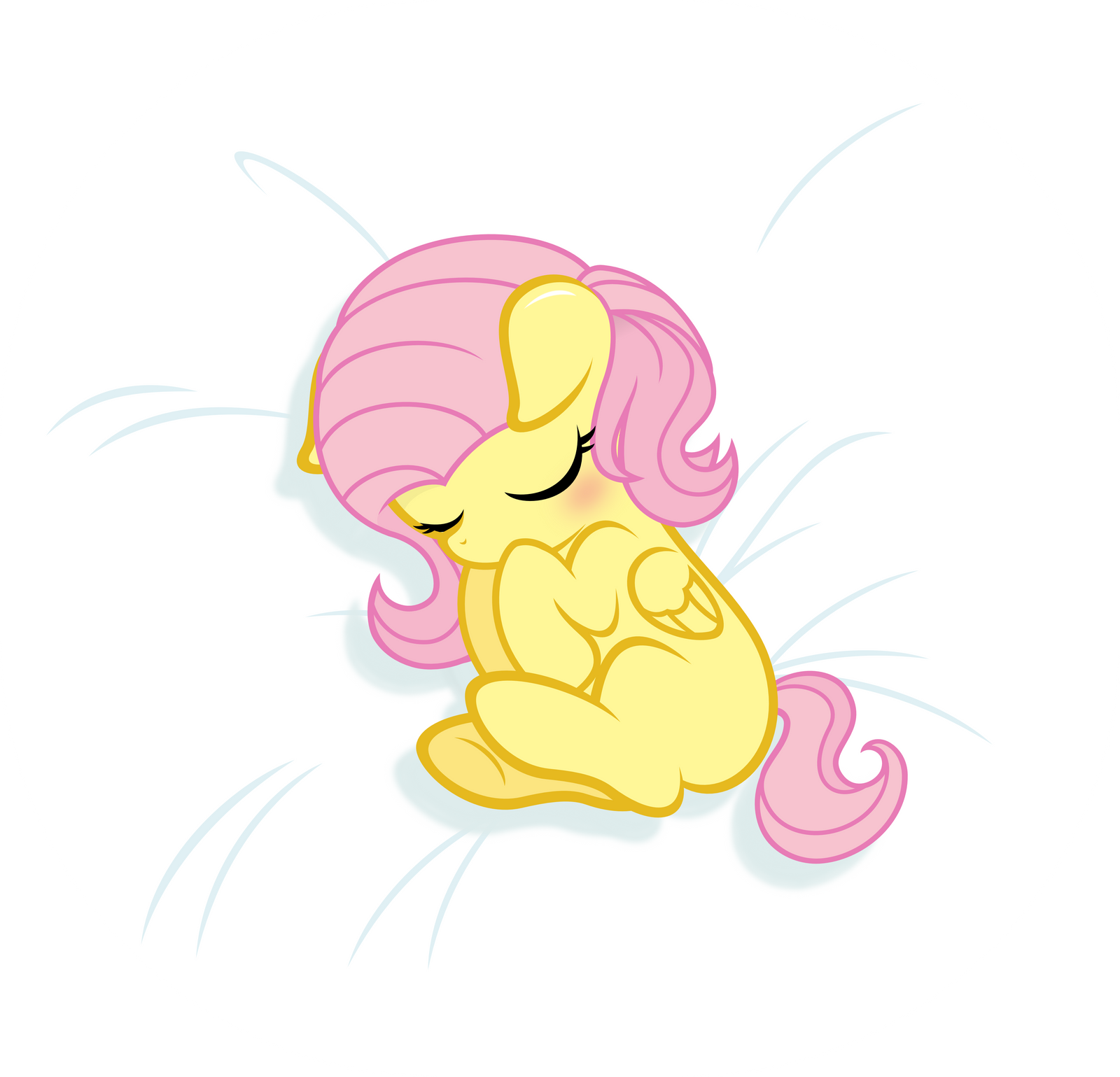 Baby Fluttershy -sleeping- by Godoffury