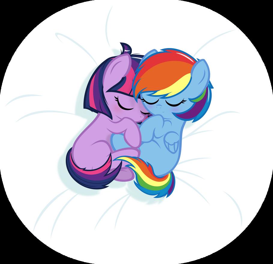 Baby Twilight and Rainbow Dash by Godoffury