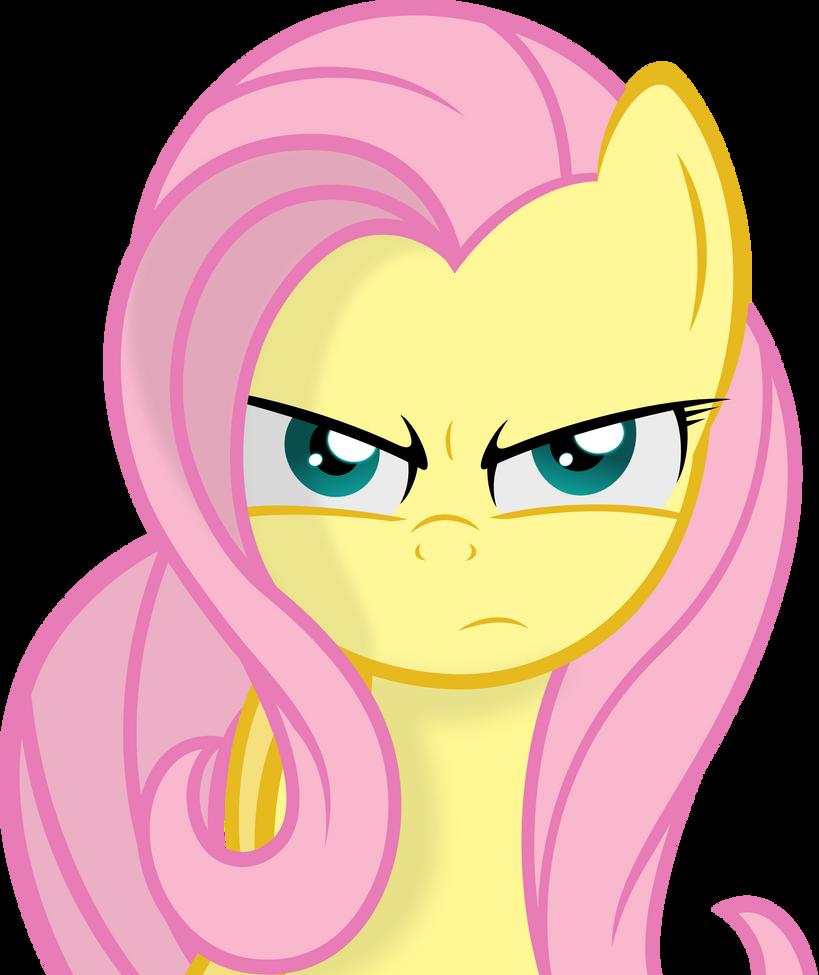 Fluttershy Serious Face by Godoffury on DeviantArt