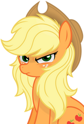 Applejack -Hair Down- by Godoffury