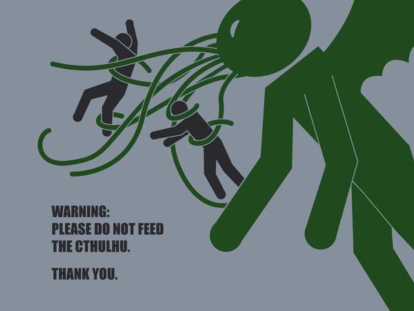 Do Not Feed the Cthulhu... by Bain-of-Ganondorf
