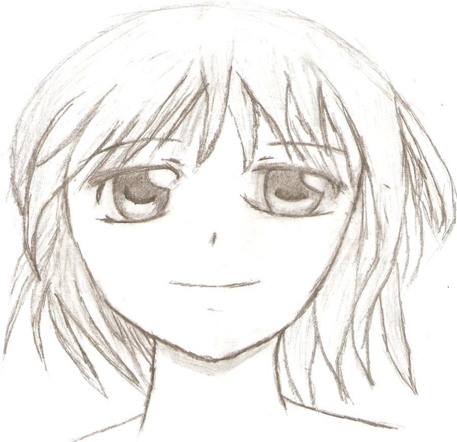 Anime face sketch by justin32o