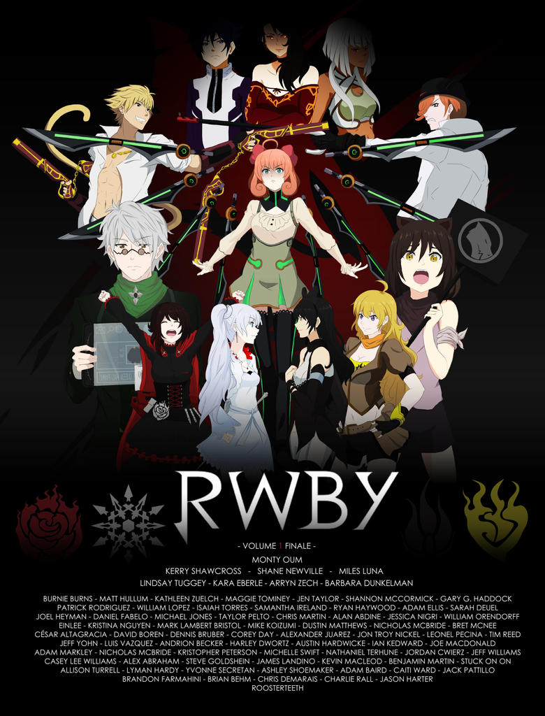 RWBY Volume 1 Finale (PRINT) by shelbybl