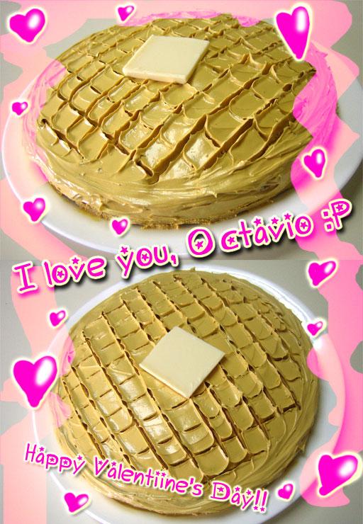 Valentine's Day Waffle Cake by KawaiiGir2