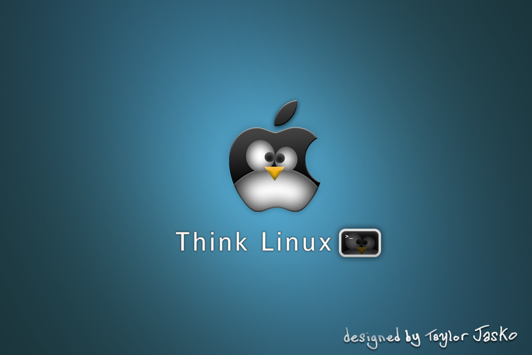 think linux wallpaper by -#main