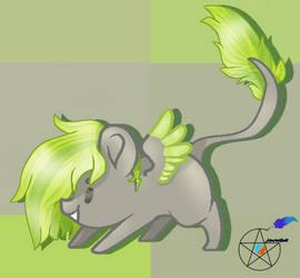Request - Chibi Dragon Grass by AzurasQuill