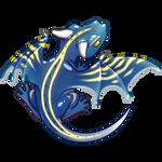 Dragon gecko cornu bleu by Hasur-Arts