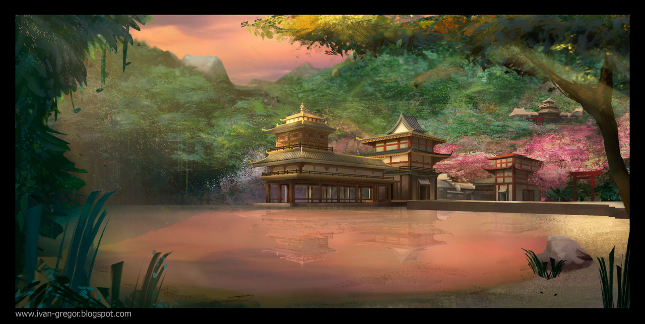 Environment-japanese-temple by rastafic