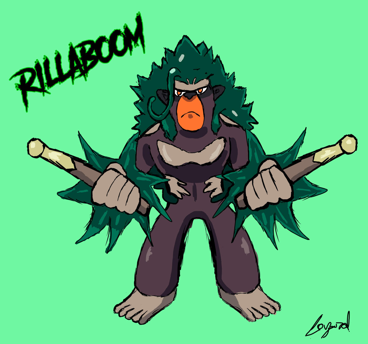 Rillaboom Pokemon Grookey Final Evolution By Jazahal On Deviantart By dudebulge, posted a year ago drawer of dudes. pokemon grookey final evolution by