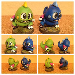Chibi Bubble bobble Miniatures