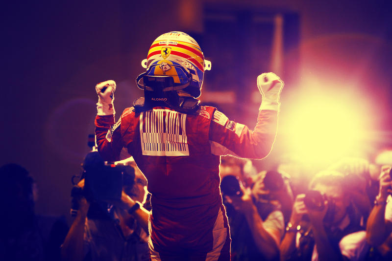 Fernando Alonso in Singapore