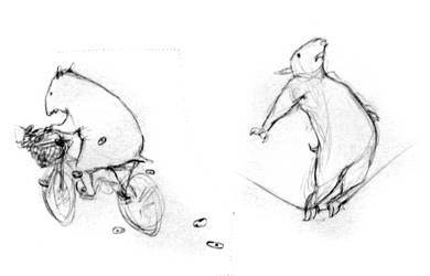 Tapir Doodles by croovman