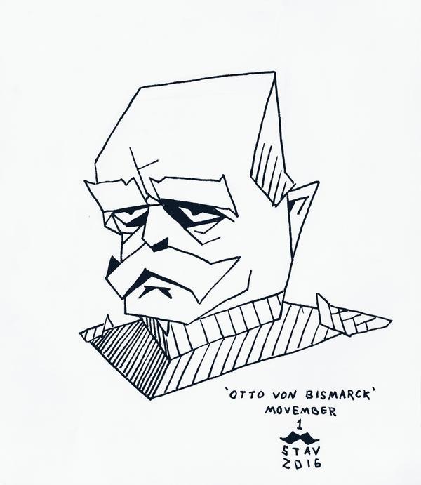 Movember#1 - Otto Von Bismarck by croovman