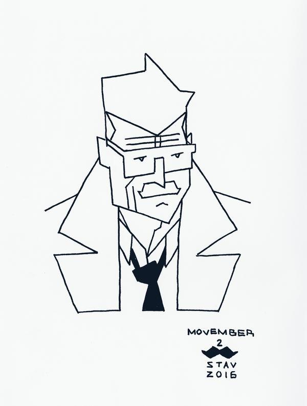 Movember#2 - Commissioner J. Gordon by croovman