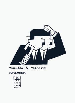 Movember#4 - Thomson and Thompson