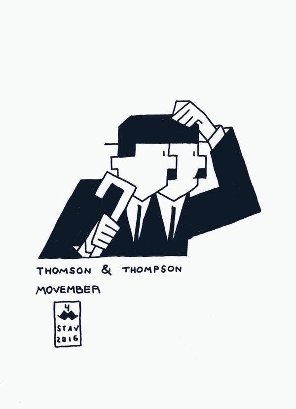 Movember#4 - Thomson and Thompson by croovman