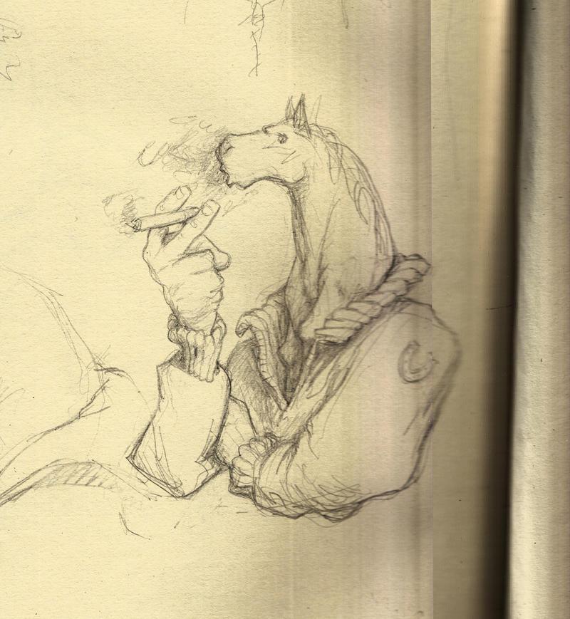 Inkhorse - sketch 1 by croovman