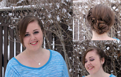 Elsa Coronation Hair and Makeup
