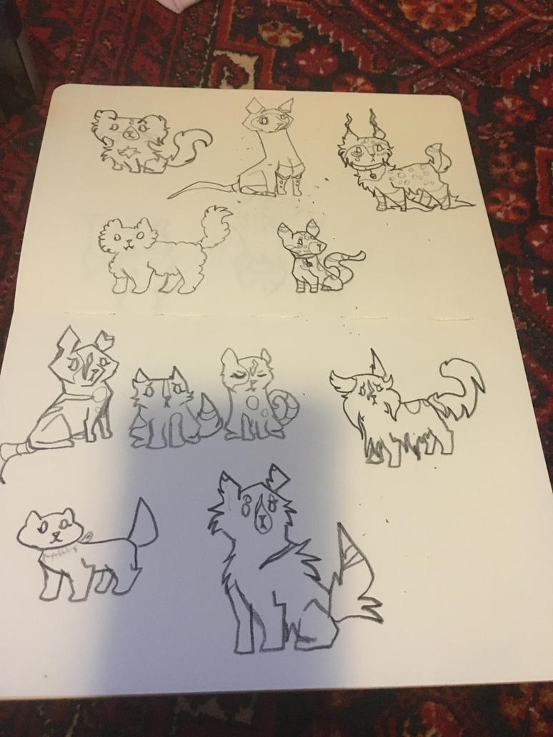 Cat Doodles by AzureSylveon