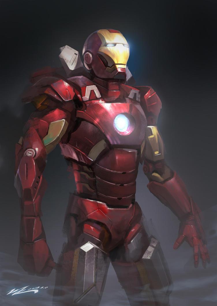 Iron man mk7 by junling on deviantart - Mechant avenger ...