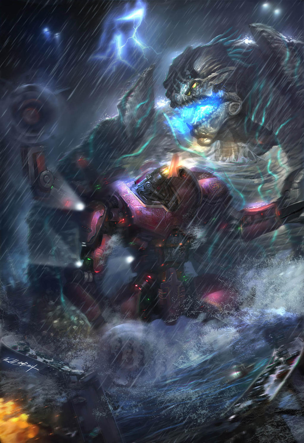 PACIFIC RIM-Crimson Typhoon'ss by JUNLING on DeviantArt