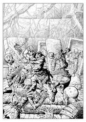 Conan Vs Undead by Bobann