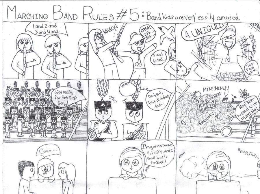 Marching Band Drawing Marching Band Rules 5 by