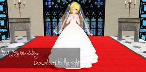 TDA Rin Wedding Download [ MMD ]  by Yuu2002
