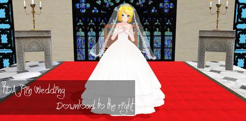 TDA Rin Wedding Download [ MMD ]  by Yuu2002