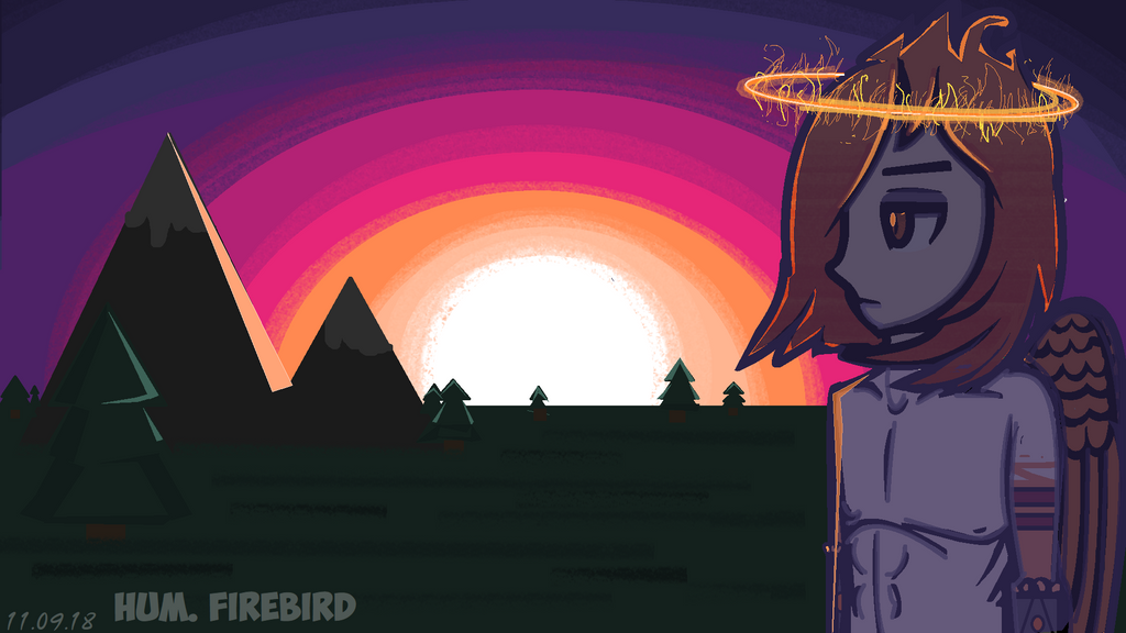 [HUM.] Sunrise and Firebird (or just art with F-B) by MariaNya54