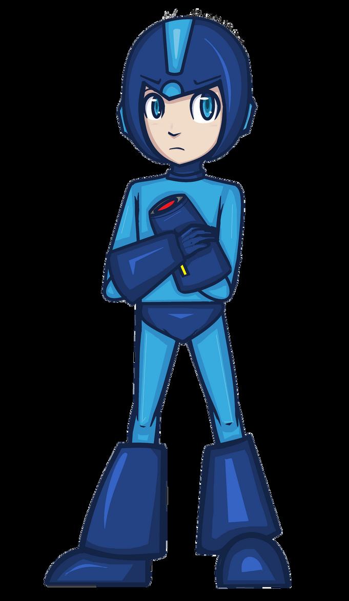 [FANART] hm. Mega Man fan art? by MariaNya54