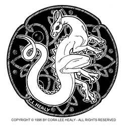 Celtic dragon by khorah