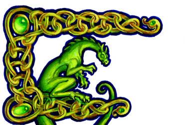 Celtic Dragon Nametag by khorah