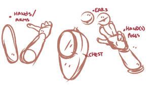 chest/body, arms, hands, etc. [tutorials]